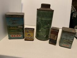 Antique Tea And Spice Tins
