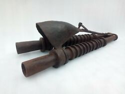 1800 Ancient Antique Hand Forged Iron Air Blower Blacksmith Tool Air Blower Pipe
