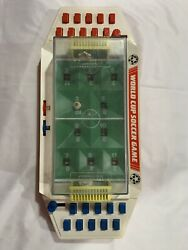 Vintage World Cup Soccer Game Push Button Table Top Football Small World Toys