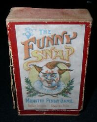 The Funny Snapmonster Penny Card Gameca.1920s English, Printed In Bavaria