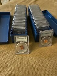1973s - 2008s Lincoln Cent Pcgs Pr69rd Dcam + 1977 1981 Type 1and2 38 Pcgs Coins