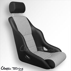 1984-94 Porsche 911 Rally Gt Sport Seat. Leatherette/houndstooth