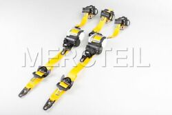 Mercedes-benz Genuine Amg Race Yellow Seat Belts For Amg Gt 290