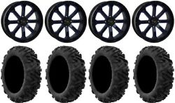 System 3 St-4 20 Wheels Blue 34 Moto Mtc Tires Can-am Defender
