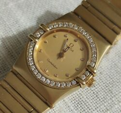 18k Solid Gold And Diamonds Omega Constellation Superb Condition