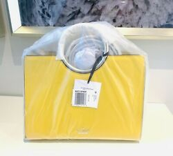 NWT Kate Spade White Rock Road Sam Bag Yellow Leather NEW Orig Wrap Super Last 1 $365.00