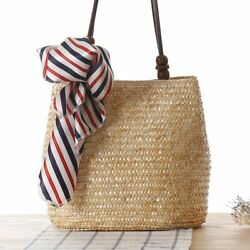 Summer Fashion Female Beach Bags Women Handbag Straw Woven Casual Messenger Bag $20.60