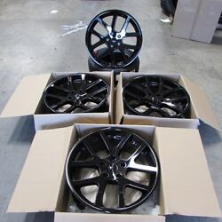 Fits Dodge Magnum Charger Challenegr 300c 22 Viper Style Wheels Gloss Black