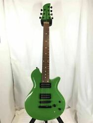 Dragonfly Maroon Bc 666 Green 7 String Electric Guitar W/ Gig Case Japan Shipped