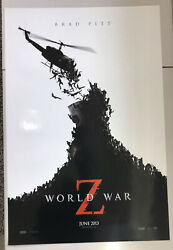 World War Z Movie Poster One Sheet Original Double Sided