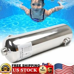 Pool Heat Exchanger 200kbtu 304 Stainless Steel 316l Ports 1 1/2 And 1 Fpt