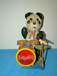 Vintage Mambo Electric Panda Bear Drummer Sheng Mechanical Toy-scarce Type-c.h.