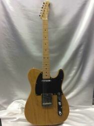 History Sh-tv Heritage Wood Natural 6 String Electric Guitar Shipped From Japan