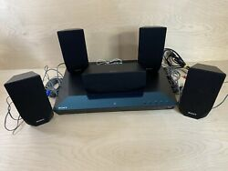 Sony Bdv-e2100 3d Blu-ray Home Theater System 5 Speakers No Remote Or Subwoofer