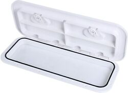 Marine Boat Deck Hatch Abs Access Hatch Window And Lid 24 X 9-5/8 White Us Ship
