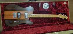 Fender Telecaster Hh Natural Electric Guitar W/ Hard Case Shipped From Japan