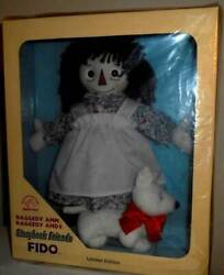 Fido Raggedy Ann And Andy Doll Dog Story Book Friends Limited Edition Figure