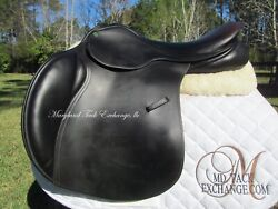 17 County Conquest Close Contact Jumping Saddle -wool Flock-medium On Trial