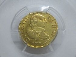 1776 Madrid 1/2 Escudo Pcgs Au53 Gold Charles Iii Spain Doubloon Colonial Era