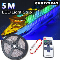 16ft Rgb Flexible Led Strip Light 2835 Smd Remote Fairy Lights Room Tv Party Bar