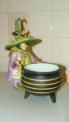 Department 56 Krinkles Patience Brewster Witch Cauldron Candy Dish Halloween