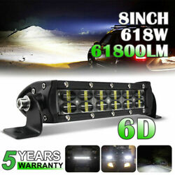 Dual Rows 8inch Led Work Driving Light Bar Spot Flood Offroad Suv Boat Lamp