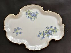 Vintage Haviland Limoges - Montmery - Forget Me Not - Oval Pin Tray