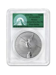 2020 Mexico 1 Oz Silver Libertad Reverse Proof Pr-70 Pcgs First Strike In Hand