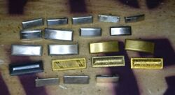 Lot Of Wwi And Ww2 Army/usmc 1st/2nd Lieutenant Rank Insignia Navy Ensign Sterling
