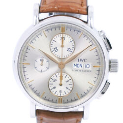 Iw378302 Portofino Watches Stainless Steel/leather Mens Silverdial