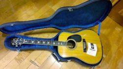 Yamaki Yw60 Acoustic Guitar With Hard Case Shipped From Japan