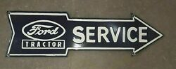 Porcelain Ford Tractor Service Sign Size 24 X 7 Inches