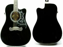 Epiphone Dave Navarro Jane Black Acoustic Guitar Made In Indonesia And Soft Case