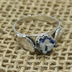 Vintage Ancient Roman Glass 925 Sterling Silver Ring Israel Handmade Jewelry