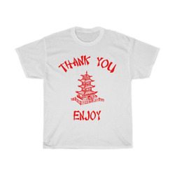 Chinese Food Container Pagoda Thank You Enjoy Unisex Heavy Cotton Tee