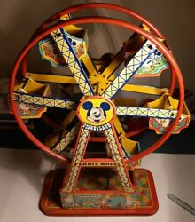 Rare Disneyland Mickey Mouse Ferris Wheel J.chien U.s.a.looks And Works Excellent