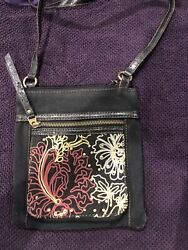 Fossil Crossbody Canvas Purse $9.50