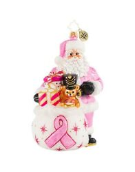 Christopher Radko Breast Cancer Charity Poised In Pink Ornament 1020832