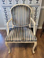 Vintage Serge Roche Style Velvet Arm Chair Century Furniture French Free Ship