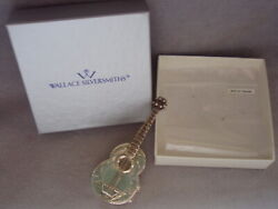 Wallace Detailed Sterling Guitar Pill Box Christmas Ornament Pendant Decoration