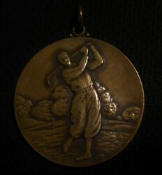 1920and039s-30and039s Hole-in-one Golf Award Medal By The Makers Of Us Golf Balls Vintage