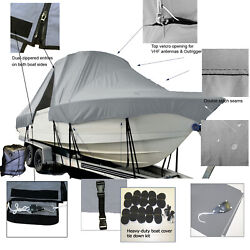 Mako 241 Inshore Center Console T-top Hard-top Fishing Storage Boat Cover