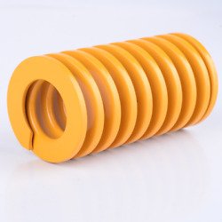 Yellow Od 18mm Outer Dia 9mm Light Load Stamping Compression Mould Die Spring