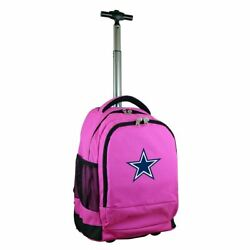 Dallas Cowboys Premium Wheeled Backpack In Pink