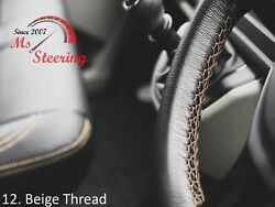 For Autocar Expert -black Steering Wheel Cover Beige Stitch