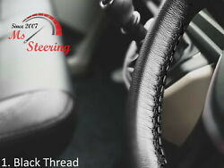 For Autocar Expert -black Steering Wheel Cover Black Stitch