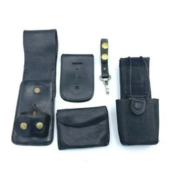Police Accessories Walkie Talkie Pouch Night Stick Holder And More 5 Piece Lot