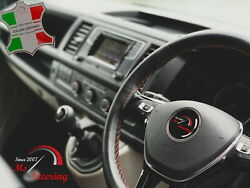 For Autocar Expert -black Steering Wheel Cover Copper Stitch