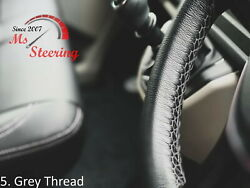 For Autocar Expert -black Steering Wheel Cover Grey Stitch
