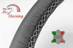For Autocar Expert -black Steering Wheel Cover Light Grey Stitch